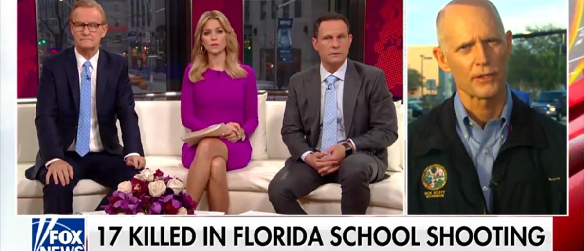 Gov Rick Scott Speaks On School Shooting - Fox & Friends 2-15-18 (Screenshot/Fox News)