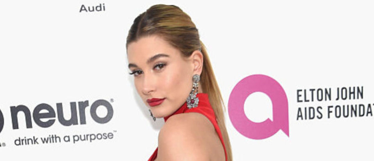 WEST HOLLYWOOD, CA - FEBRUARY 28:  Model Hailey Rhode Baldwin attends the 24th Annual Elton John AIDS Foundation's Oscar Viewing Party at The City of West Hollywood Park on February 28, 2016 in West Hollywood, California.  (Photo by Jamie McCarthy/Getty Images for EJAF)