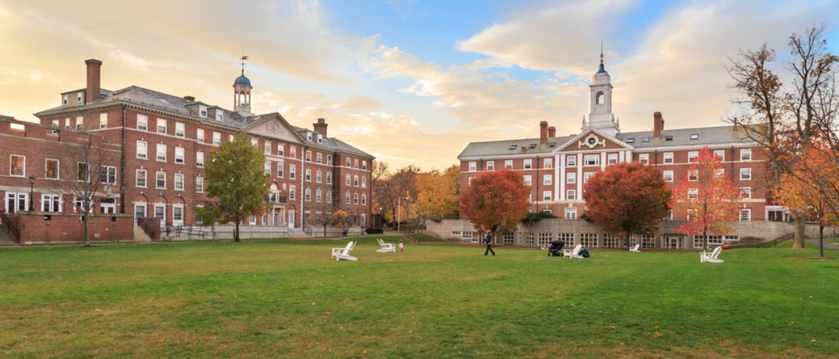 Pictured is the Radcliffe Quad undergrad housing at Harvard University. (Shutterstock/Jannis Tobias Werner)