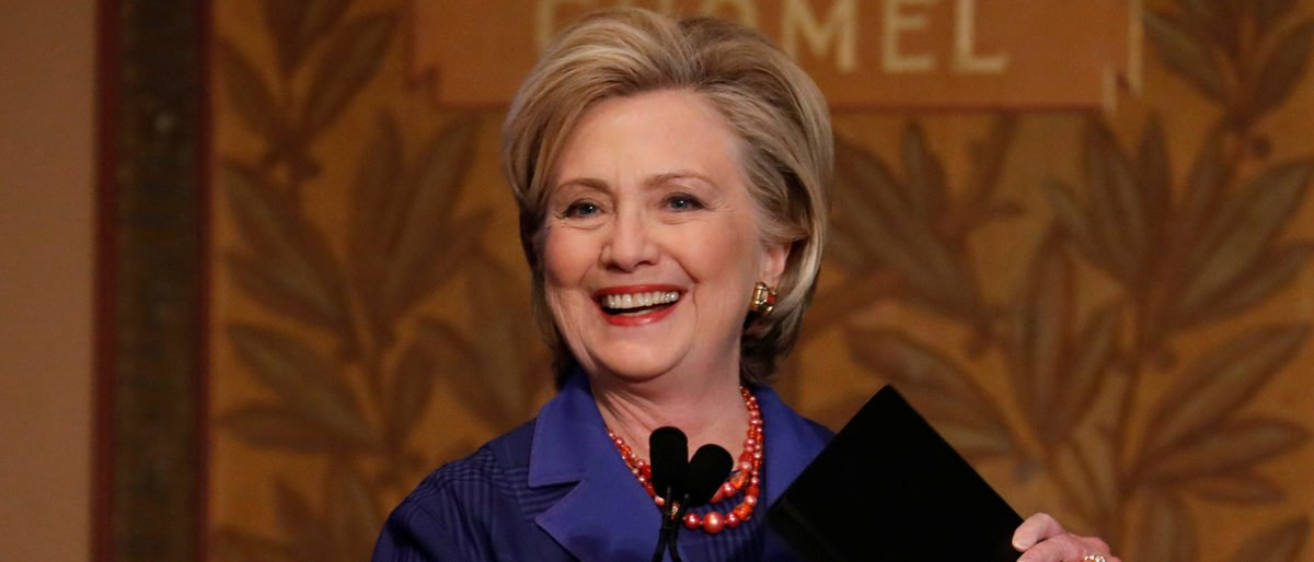 Former Secretary of State Hillary Clinton arrives to speak at the annual Hillary Rodham Clinton awards ceremony at Georgetown University in Washington, U.S., February 5, 2018. REUTERS/Aaron P. Bernstein