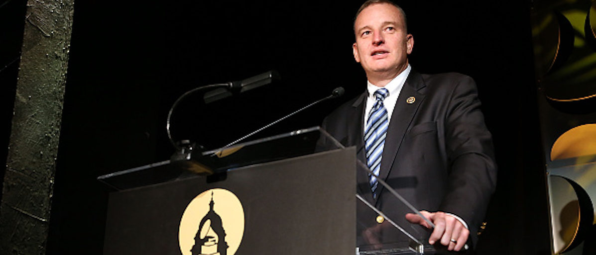 WASHINGTON, DC - APRIL 13: Honoree Rep. Tom Rooney (R-Fla) speaks at the GRAMMYs on The Hill Dinner at The Hamilton on April 13, 2016 in Washington, DC. (Photo by Paul Morigi/Getty Images for The Recording Academy)