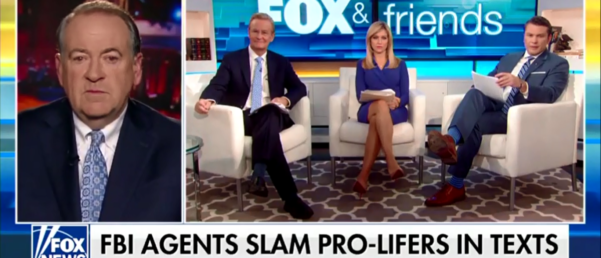 Huckabee Slams Lisa Page For Anti-Pro Life Texts On Fox&Friends 2-9-18
