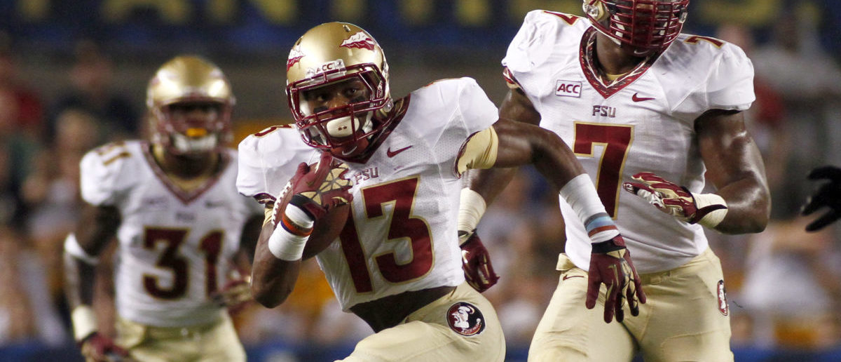 PITTSBURGH, PA - SEPTEMBER 02: Jalen Ramsey #13 of the Florida State Seminoles runs after making an interception in the first half against the Pittsburgh Panthers during the game on September 2, 2013 at Heinz Field in Pittsburgh, Pennsylvania. (Photo by Justin K. Aller/Getty Images)
