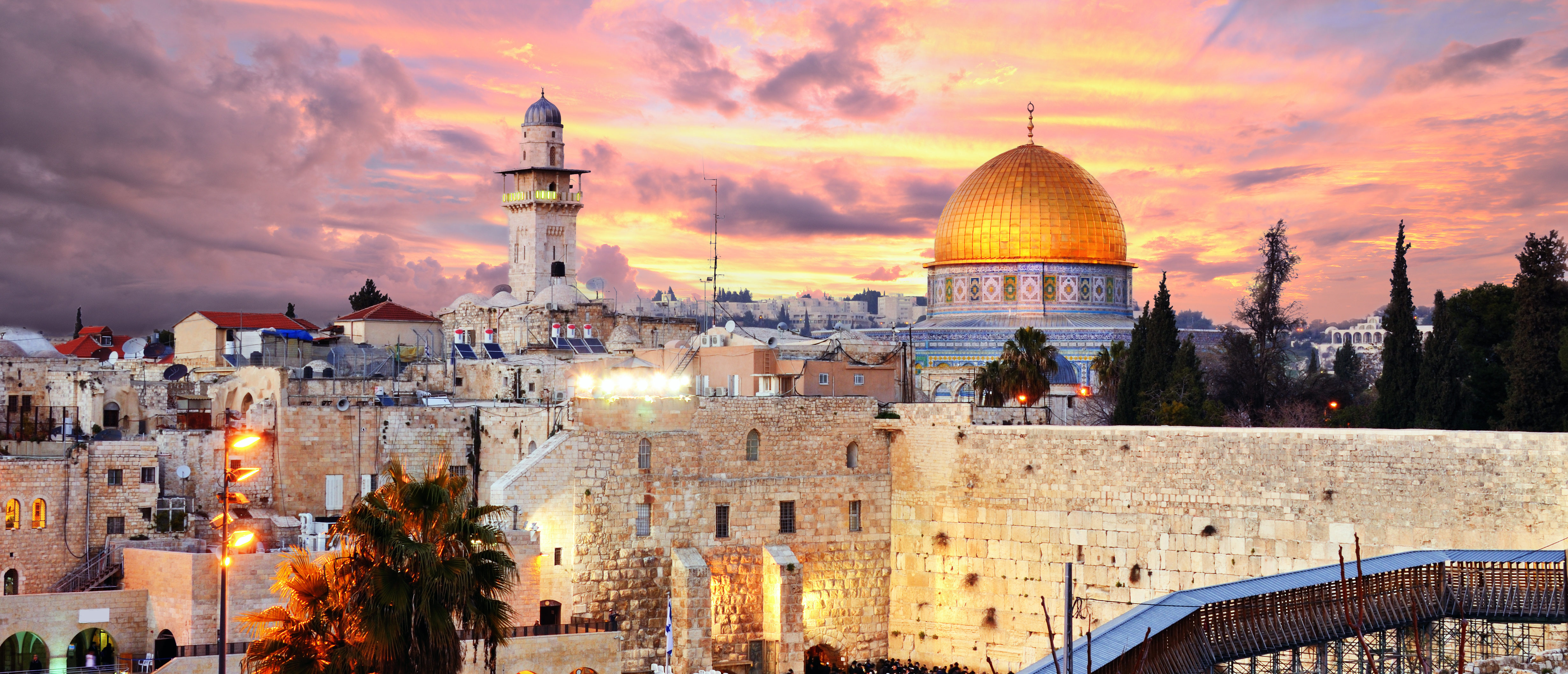The old city of Jerusalem at twilight. (Shutterstock)