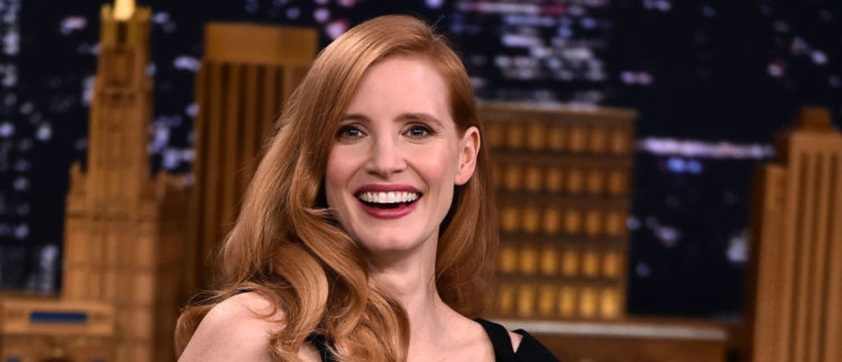 "NEW YORK, NY - JANUARY 18: Jessica Chastain Visits ""The Tonight Show Starring Jimmy Fallon"" at Rockefeller Center on January 18, 2018 in New York City. (Photo by Theo Wargo/Getty Images)"