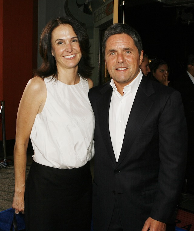 """LOS ANGELES - JULY 26: Exec. Prod. Jill Messick and Paramount's Brad Grey pose at the premiere of Paramount Picture's """"Hot Rod"""" at the Chinese Theater on July 26, 2007 in Los Angeles, California. (Photo by Kevin Winter/Getty Images)"""