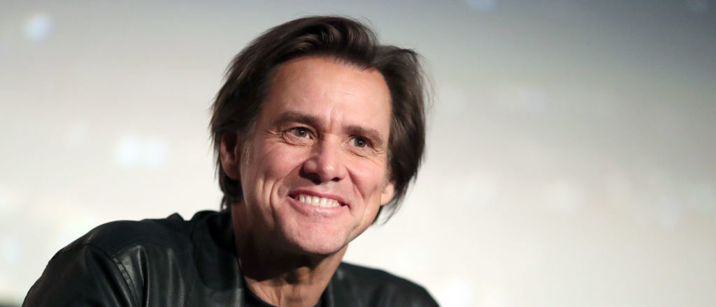 """HOLLYWOOD, CA - NOVEMBER 13: Jim Carrey speaks onstage during """"Jim & Andy: The Great Beyond - Featuring a Very Special, Contractually Obligated Mention of Tony Clifton"""" at AFI FEST 2017 Presented By Audi at TCL Chinese 6 Theatres on November 13, 2017 in Hollywood, California. (Photo by Christopher Polk/Getty Images for AFI)"""