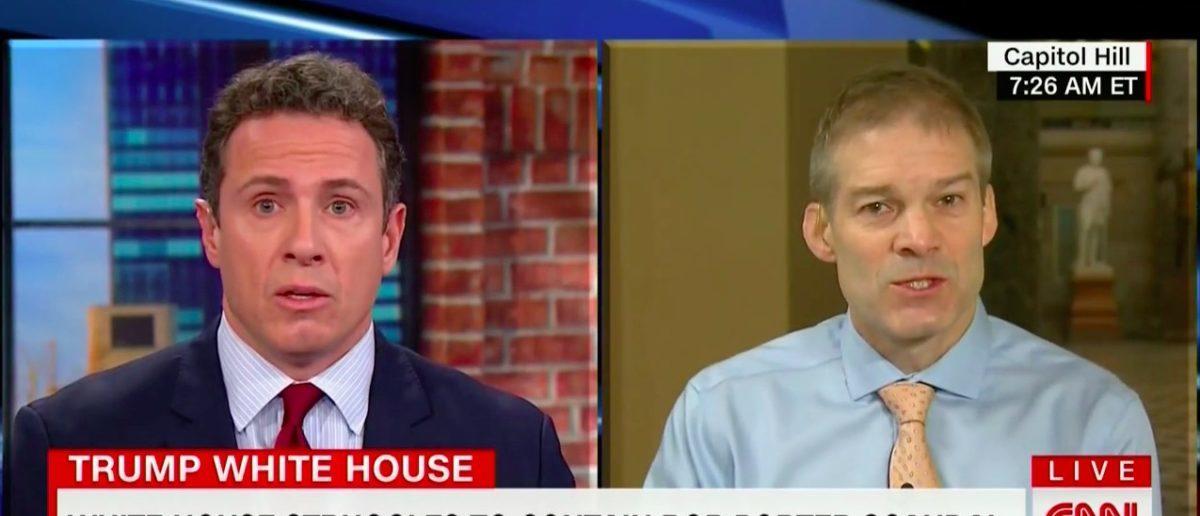 Jim Jordan and Chris Cuomo Spar Over FBI Bias (CNN Screenshot: Feb 14, 2018)