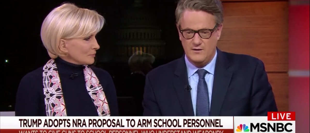 Joe Scarborough Says Gun Control May Not Make A Difference But We Have To 'Give It A Try' - Morning Joe 2-23-18 (Screenshot/MSNBC)