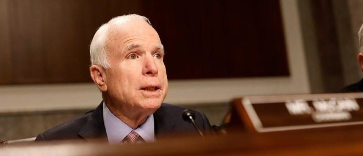 Sen. John McCain on Capitol Hill in Washington, D.C., U.S. March 14, 2017. REUTERS/Aaron P. Bernstein