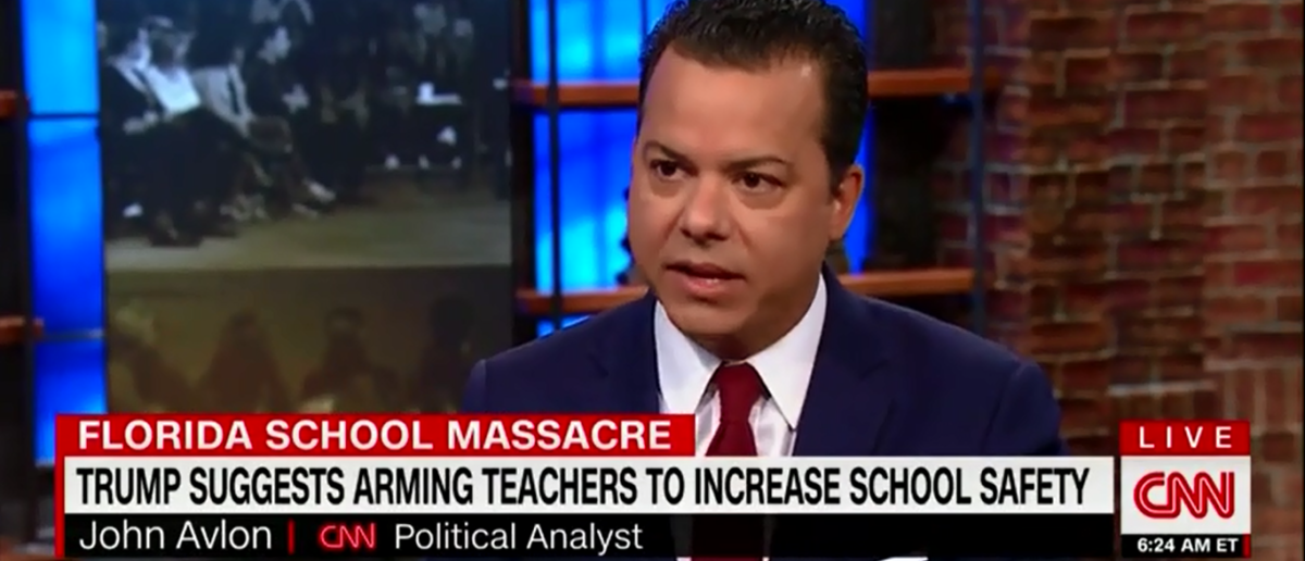 Jon Avlon Thinks It's To Expensive Too Arm Teachers To Protect Students - CNN New Day 2-22-18 (Screenshot/CNN)