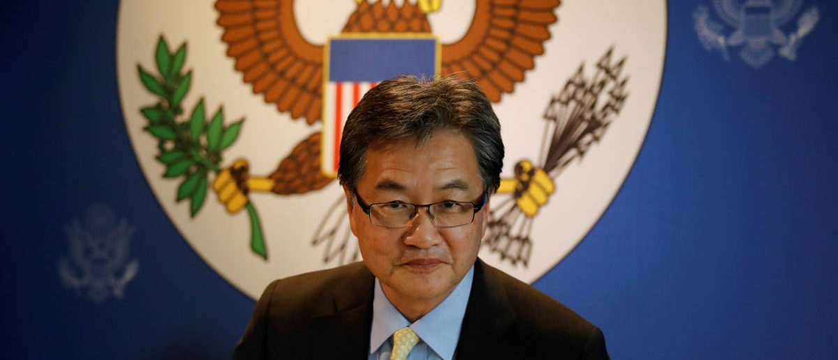 U.S. Special Representative for North Korea Policy Joseph Yun arrives at a meeting with the media in Bangkok, Thailand December 15, 2017. REUTERS/Jorge Silva/File Photo