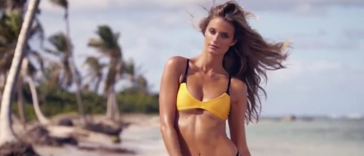 Kate Bock (Credit: Screenshot/Instagram Video Sports Illustrated Swimsuit)