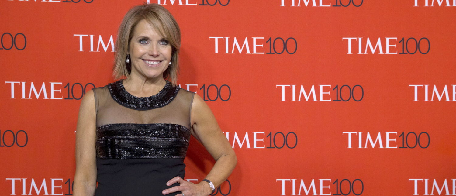 Talk show host Katie Couric arrives for the TIME 100 Gala in New York April 21, 2015. REUTERS/Brendan McDermid