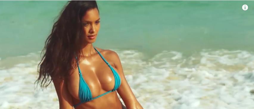 Lais Ribeiro Sports Illustrated Swimsuit (Photo: YouTube Screenshot)