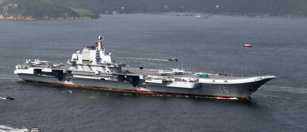 China's aircraft carrier Liaoning sails into Hong Kong, China July 7, 2017.      REUTERS/Bobby Yip
