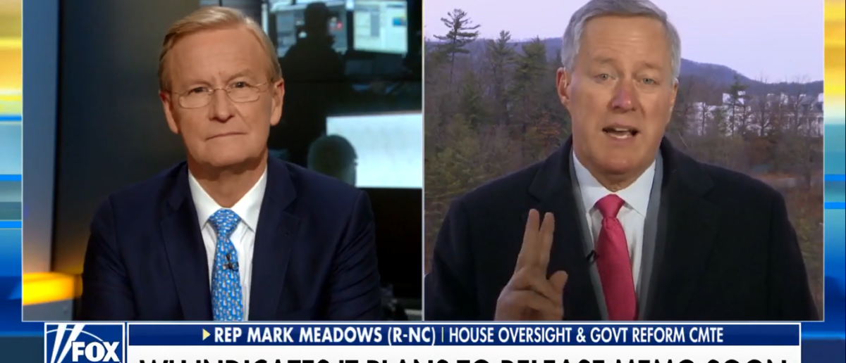 Mark Meadows calls for 2nd special counsel on Fox & friends 2-1-18 (Screenshot/Fox News)
