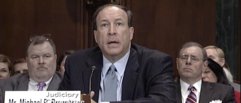 Michael Brennan testifies before the Senate Judiciary Committee in Jan. 2018. (Screenshot/CSPAN)