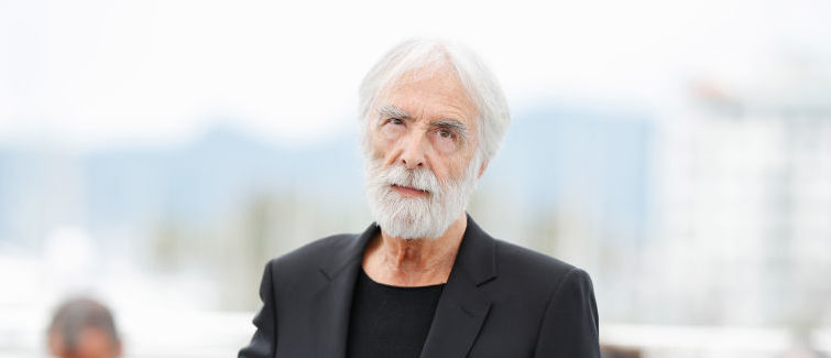 """CANNES, FRANCE - MAY 22:  Director Michael Haneke attends the """"Happy End"""" photocall during the 70th annual Cannes Film Festival at Palais des Festivals on May 22, 2017 in Cannes, France.  (Photo by Andreas Rentz/Getty Images)"""