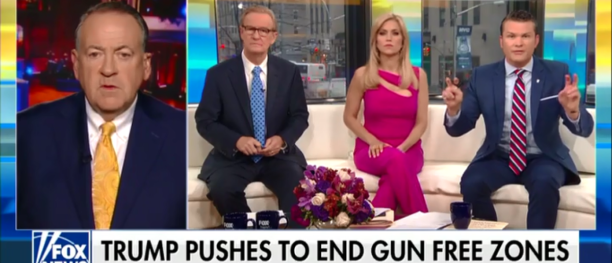 Mike Huckabee Obliterates FBI's Incompetence And Says The Blood Of Broward Shooting Is On Their Hands - Fox & Friends 2-23-18 (Screenshot/Fox News)