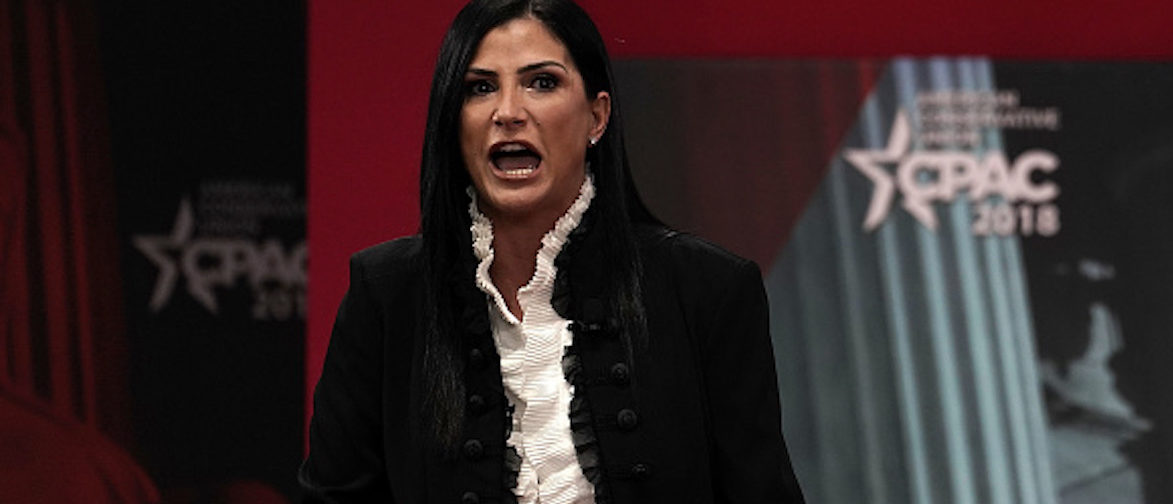 NATIONAL HARBOR, MD - FEBRUARY 22:  National Rifle Association (NRA) spokeswoman Dana Loesch speaks during CPAC 2018 February 22, 2018 in National Harbor, Maryland. The American Conservative Union hosted its annual Conservative Political Action Conference to discuss conservative agenda.  (Photo by Alex Wong/Getty Images)