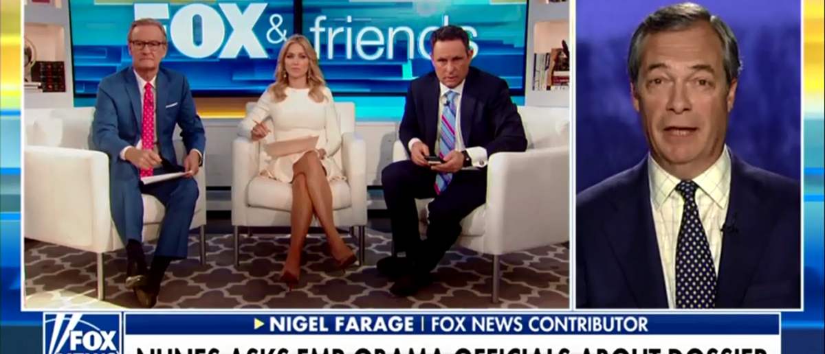 Nigel Farage Faces Off With American Media And Says It's Time To Put Russia To Rest - Fox & Friends 2-22-18