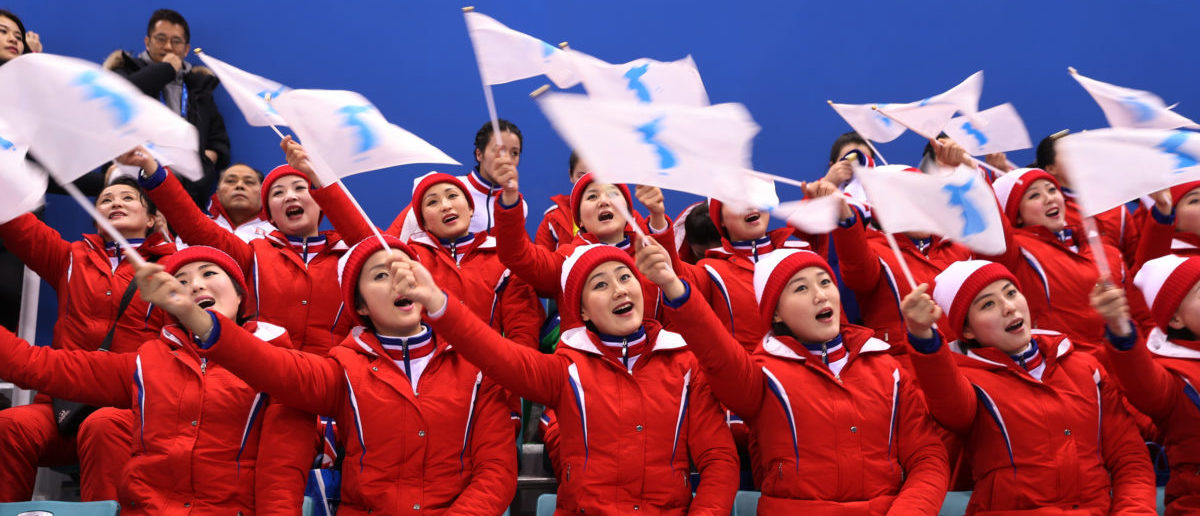 February 14, 2018 - North Korean cheerleaders at the 2018 Winter Olympics. REUTERS/Lucy Nicholson