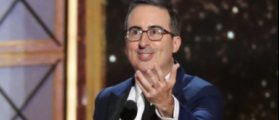 "69th Primetime Emmy Awards – Show – Los Angeles, California, U.S., 17/09/2017 - John Oliver accepts the award for Outstanding Variety Talk Series for ""Last Week Tonight with John Oliver."" REUTERS/Mario Anzuoni"
