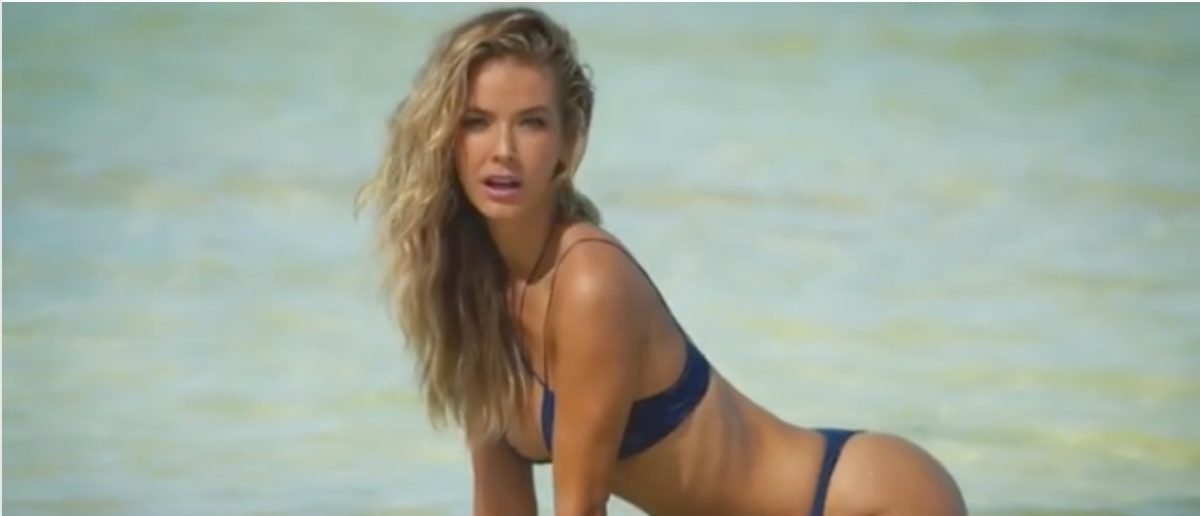 Olivia Jordan (Credit: Screenshot/Instagram Video Sports Illustrated Swimsuit)