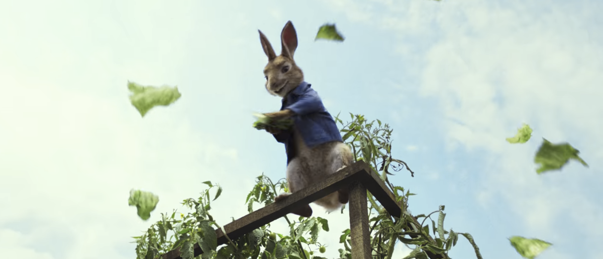 """Cartoon adaptation of Beatrix Potter's """"Peter Rabbit"""" from Sony Pictures. (Youtube screengrab/Sony Pictures)"""