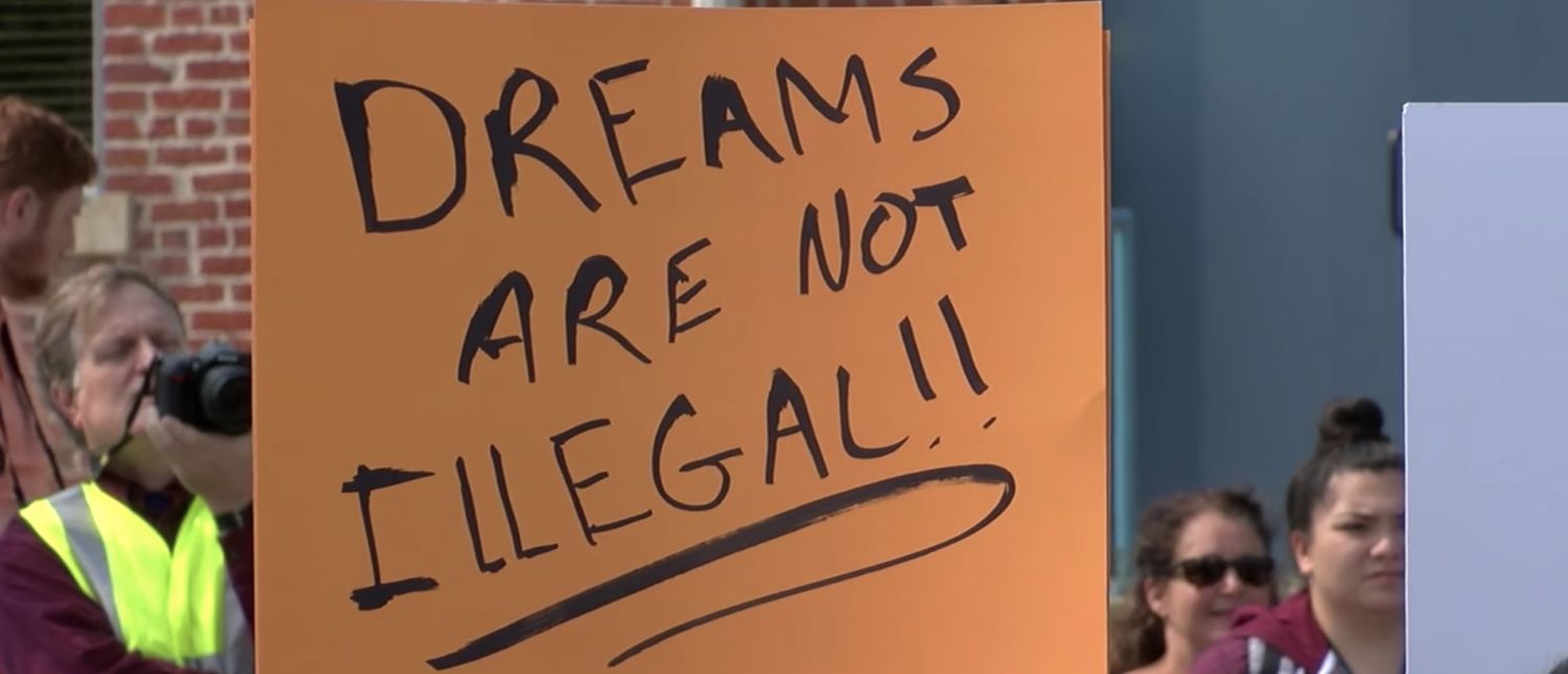 Pro-DACA protests in Denver Colorado in 2017. (YouTube screenshot/Denver Post)