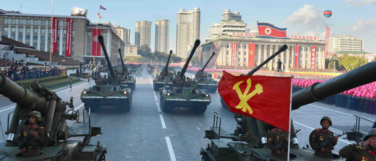 North Korea utilizes their military for a celebration parade of the Workers' Party of Korea. (Photo by: REUTERS/KCNA)