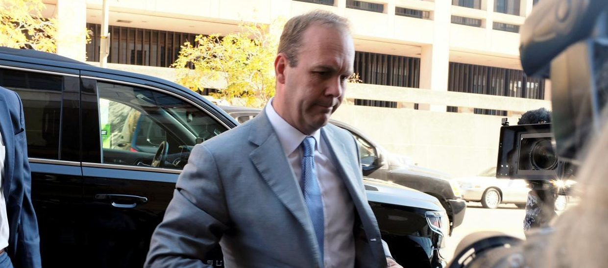 Former U.S. President Donald Trump campaign aide Rick Gates arrives for a status conference at U.S. District Court following his indictment on tax fraud and money laundering charges in the special counsel's investigation into alleged Russian meddling in the 2016 U.S. presidential election in Washington, U.S. November 2, 2017. REUTERS/James Lawler Duggan