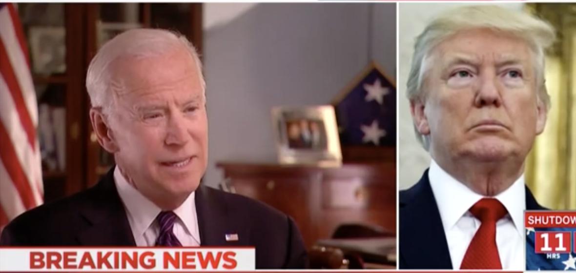 Screenshot MSNBC Trump And Biden