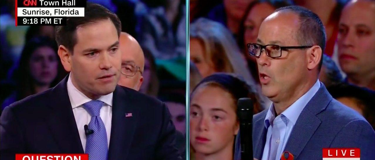 Screen Shot Marco Rubio (CNN: Feb 21, 2018)