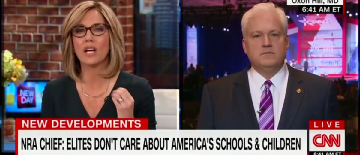 CNN's Alisyn Camerota Challenges CPAC Chair To A Duel On Gun Control And Falls Flat On Her Face - New Day 2-23-18 (Screenshot/CNN)