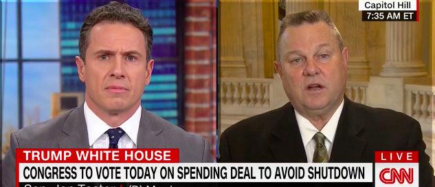 CNN's Chris Cuomo and Sen. John Tester (Photo: Screenshot/CNN)
