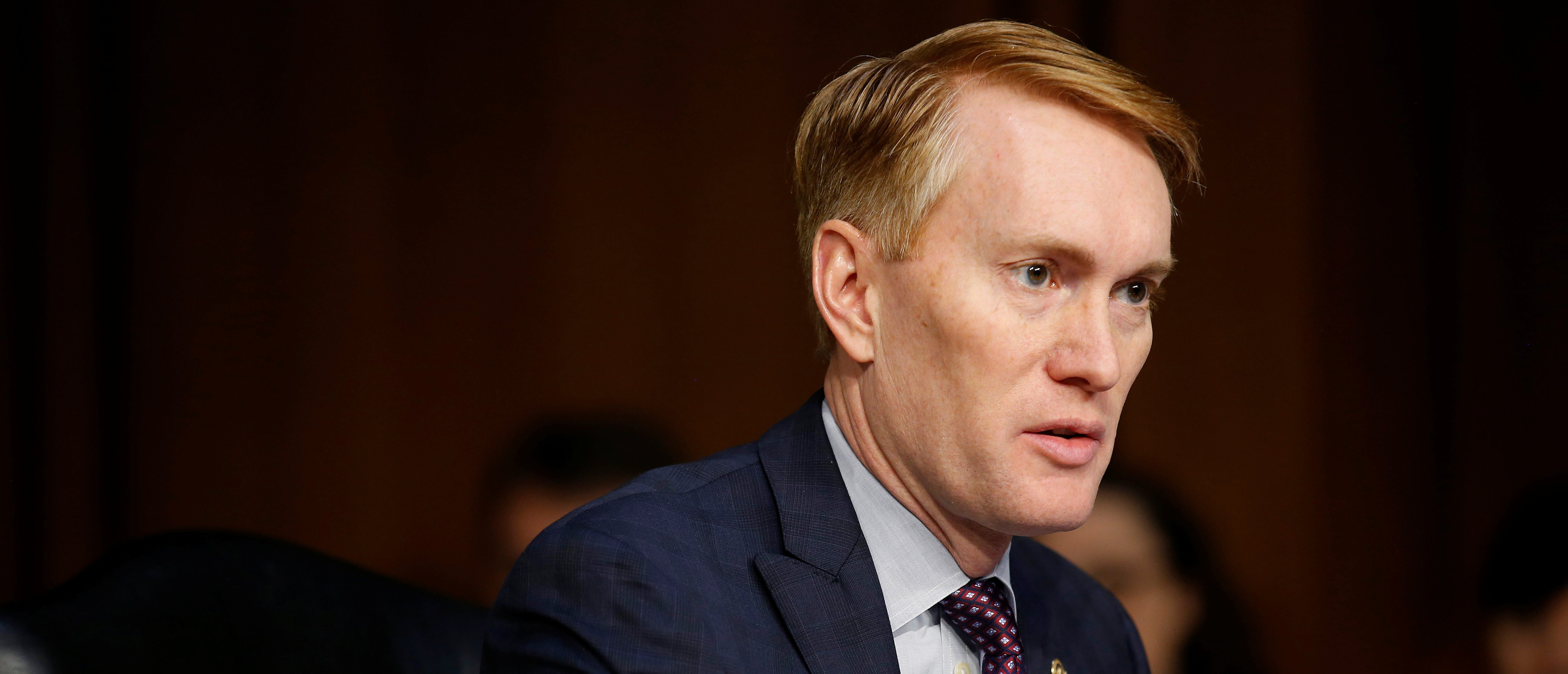 Senator James Lankford (R-OK) speaks during Senate Intelligence Committee hearing to answer questions related to Russian use of social media to influence U.S. elections, on Capitol Hill in Washington, U.S., November 1, 2017. REUTERS/Joshua Roberts
