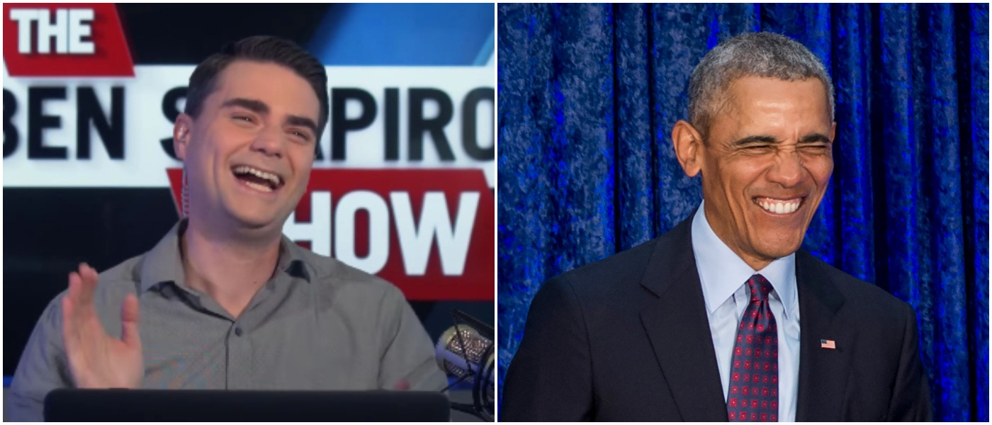 Shapiro Obama Left: SAUL LOEB/AFP/Getty Images Right: The Daily Wire Youtube screenshot