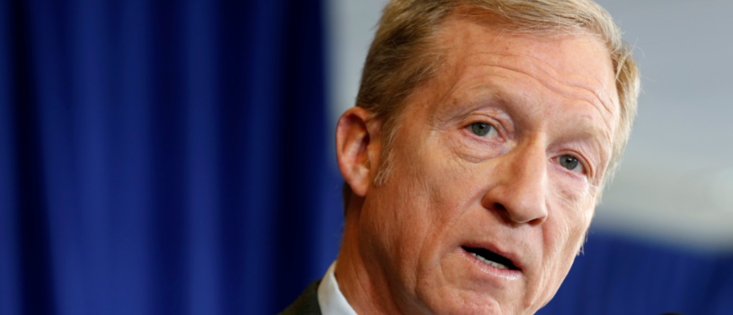 Tom Steyer, a hedge fund manager and a prominent Democratic fundraiser who has mounted a high-profile advertising campaign advocating the impeachment of U.S. President Donald Trump, holds a news conference to announce plans for his political future, in Washington, U.S., January 8, 2018. (Photo: REUTERS/Joshua Roberts)