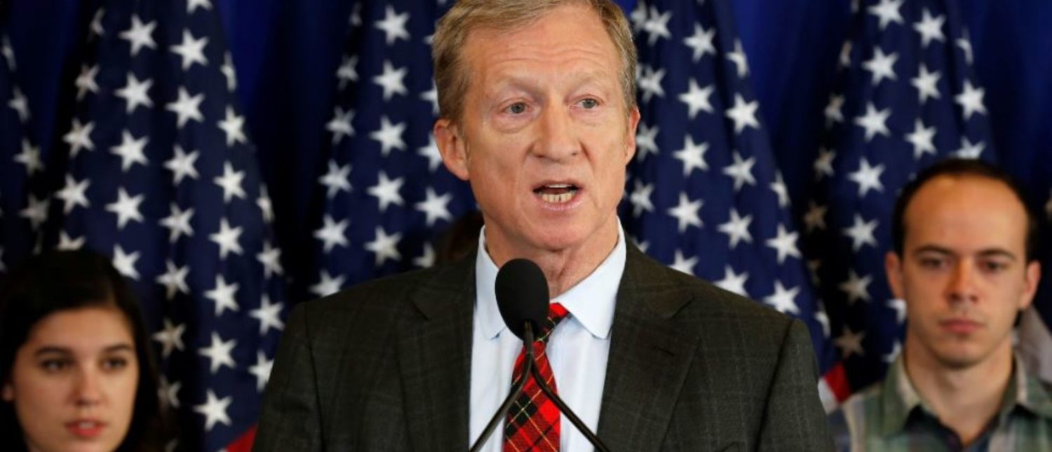 Steyer Holds Conference