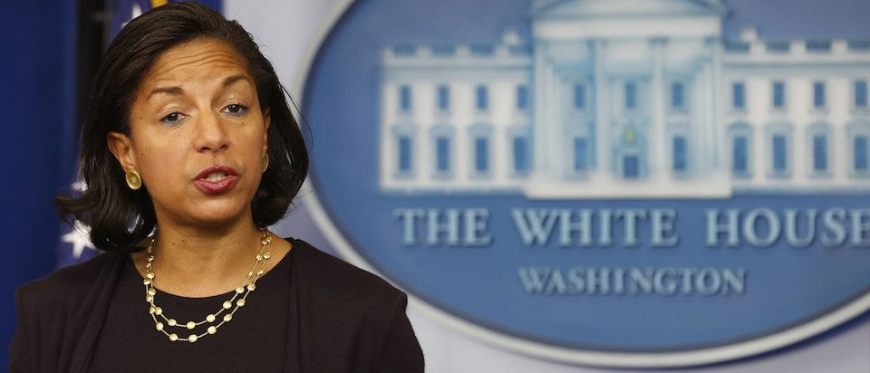 National Security Advisor Susan Rice speaks to the press about U.S. President Barack Obama's upcoming Asia trip while in the Brady Press Briefing Room at the White House in Washington, November 7, 2014.     REUTERS/Larry Downing   (UNITED STATES - Tags: POLITICS) - RTR4DABP