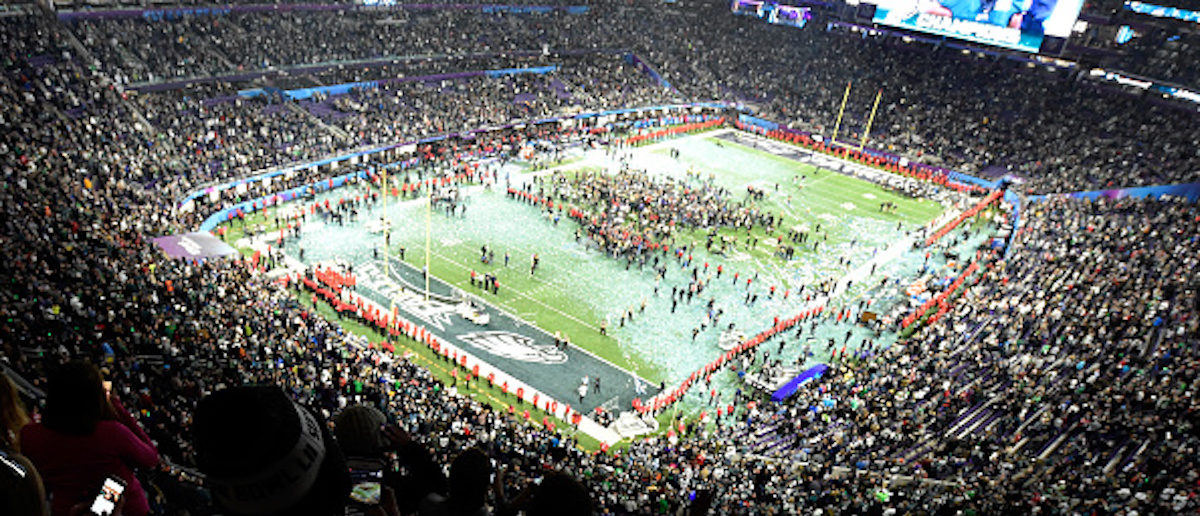 MINNEAPOLIS, MN - FEBRUARY 04:  The Philadelphia Eagles celebrate after defeating the New England Patriots 41-33 in Super Bowl LII at U.S. Bank Stadium on February 4, 2018 in Minneapolis, Minnesota.  (Photo by Hannah Foslien/Getty Images)