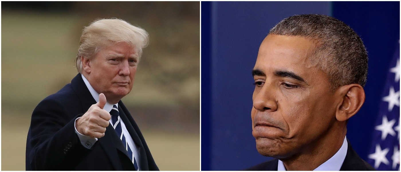 Trump Obama Left: Photo by Mark Wilson/Getty Images Right: Photo by Chip Somodevilla/Getty Images