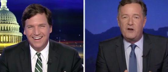 Tucker Carlson Piers Morgan Fox News screenshot