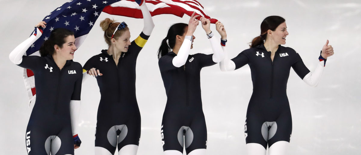 1f53c6a0b00 US Olympic Speed Skating Uniforms Cause Uproar Over Under Armour's Crotch  Design | The Daily Caller