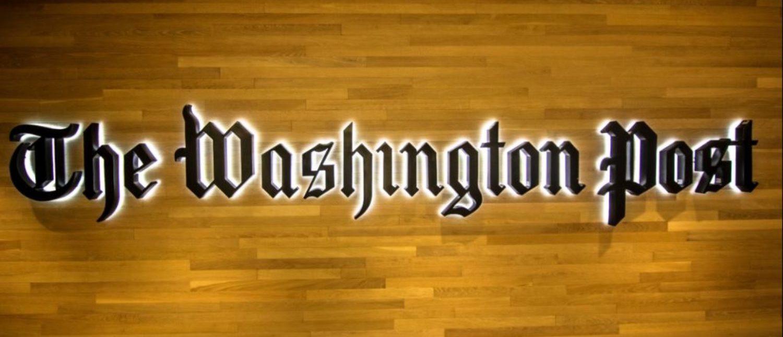 Washington, DC - July 19, 2017: The entrance of the Washington Post building
