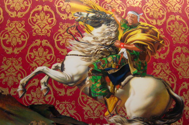 Kehinde Wiley's Napoleon Leading the Army of the Alps. (Photo: Flickr/Wally Gobetz)