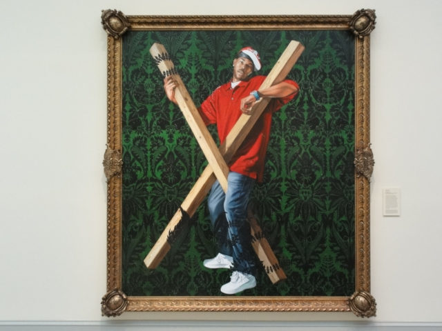 Kehinde Wiley's Saint Andrew. (Photo by Flickr/Tom Stohlman)