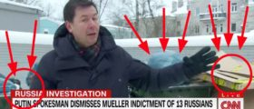 CNN Reporter Literally Goes Dumpster Diving For Collusion Evidence In St. Petersburg